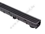 First PPN folyóka + PPN rács  (CSBSGR100PPN), fekete, 100/50/1000 mm