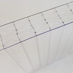 Polikarbonát lemez 32 mm (X struktúrás, UV2)